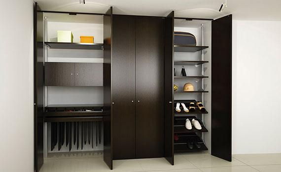 Closet de madera for Closet minimalistas para recamaras